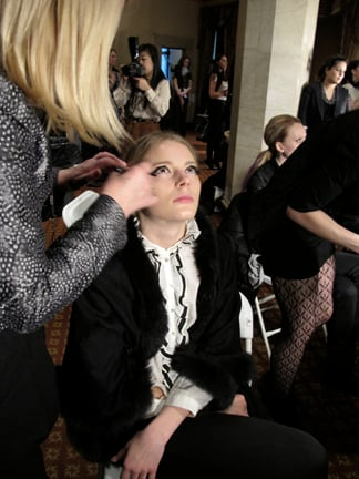 The makeup look at Cynthia Rowley