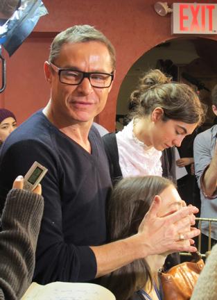 Tom Pecheux, lead makeup artist for Estée Lauder