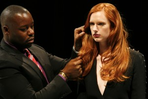Ted Gibson showing of the gorgeous red hair created with INOA