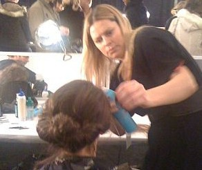 Esther Langham for Moroccanoil creates the updo