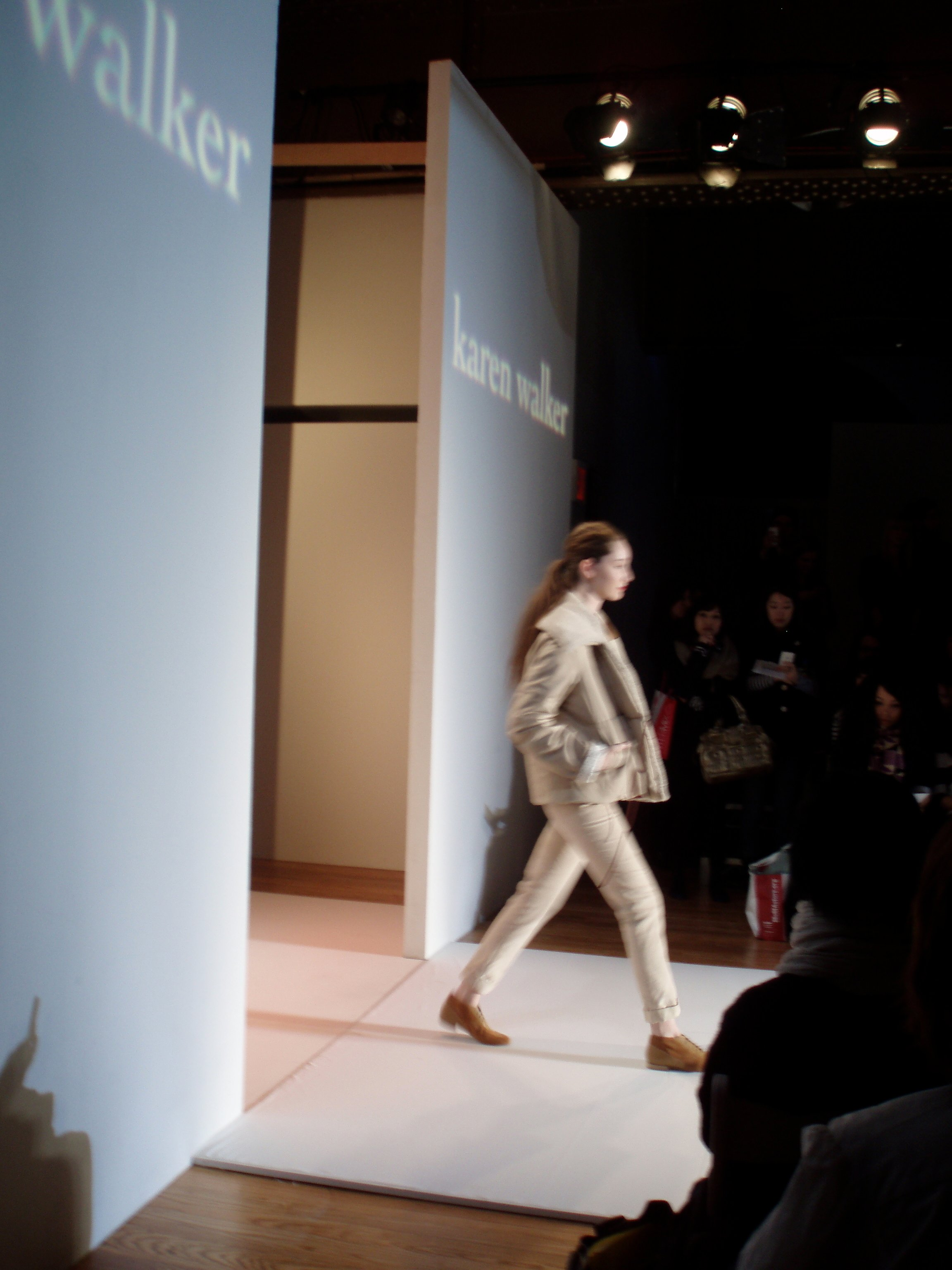 On the runway.