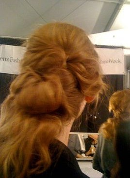A backview of the hair