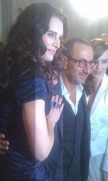 Brooke Shields, designer Gilles Mendel and actress Melissa George