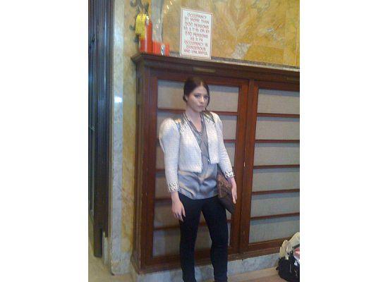 Actress Michelle Trachtenberg backstage
