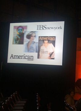 The Main Stage monitor displays the last three covers of American Salon