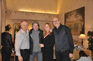 Paul Gaglioti, co-owner of Dieci Lifestyle Spa; Dominic Sansevero, owner of Bangz; Marie Paul Gaglioti, co-owner of Dieci Lifestyle Spa; Tom Harris, Panico, West Caldwell