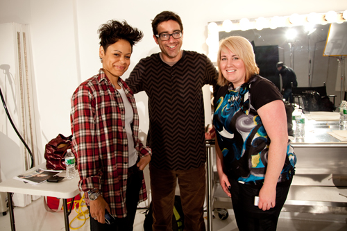 Heather with Redken Session Stylist John Ruidant and his assistant (photography: Eternal Grace Photography)