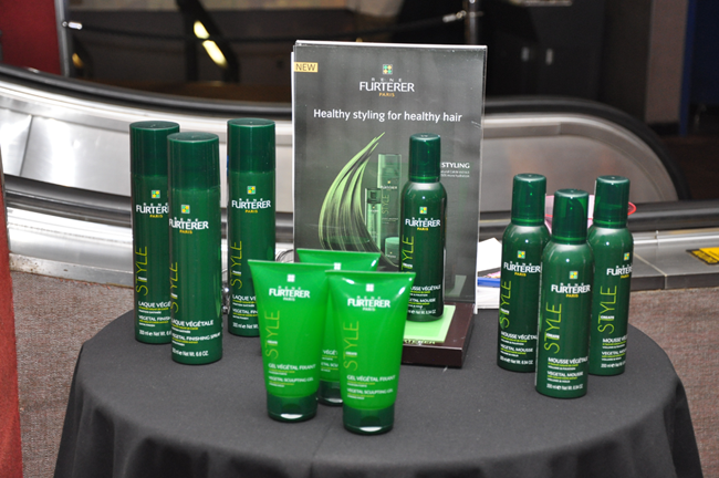 René Furterer's new line of styling products on display