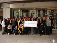 Gary Manuel Salon team presenting 2010 donations to PSA