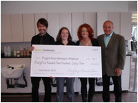 Gary Howse, Alex Lawlis and Manuel Benevich of Gary Manuel Salon with Betsy Moyer of PSA