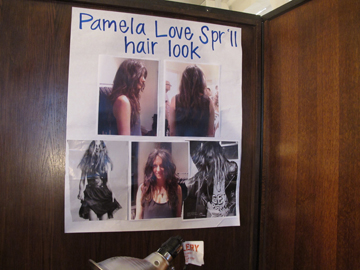 The inspiration (bottom left) for the look at Pamela Love