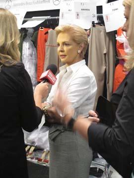 Carolina Herrera backstage