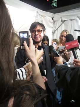 Francois Nars tackles the media