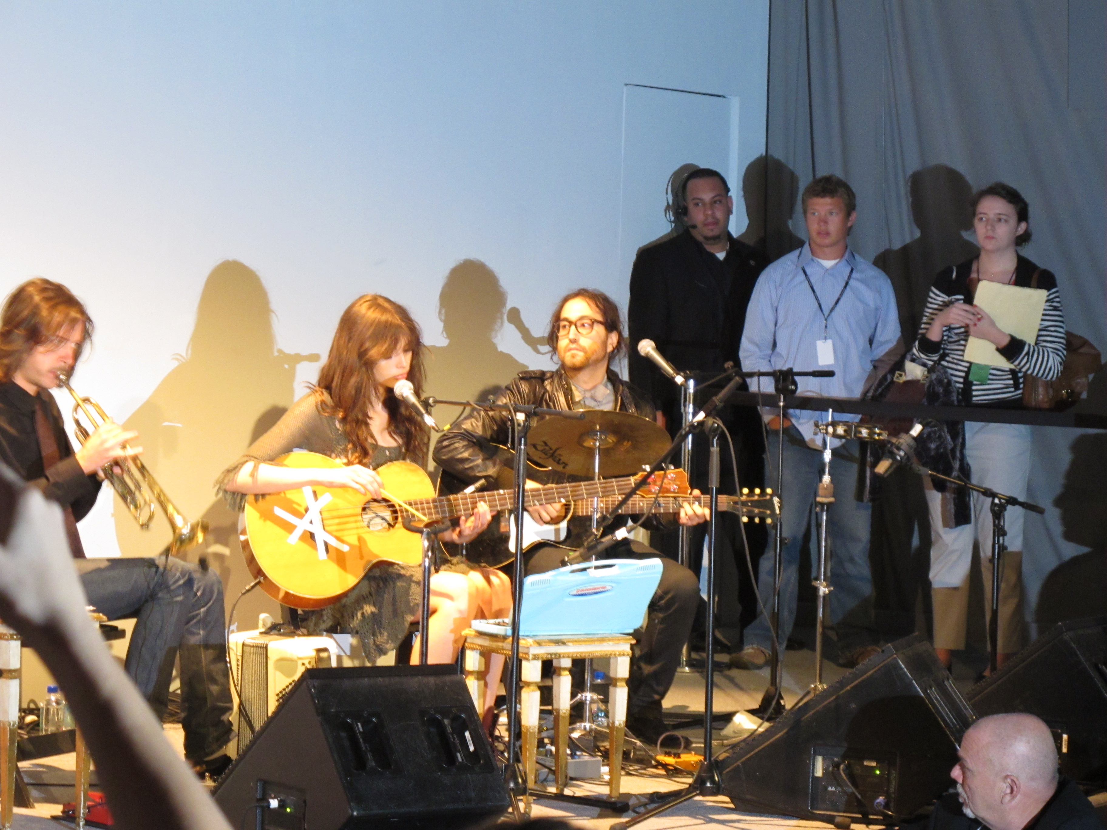 Sean Lennon and Charlotte Kemp Muhl performed at Odd Molly.