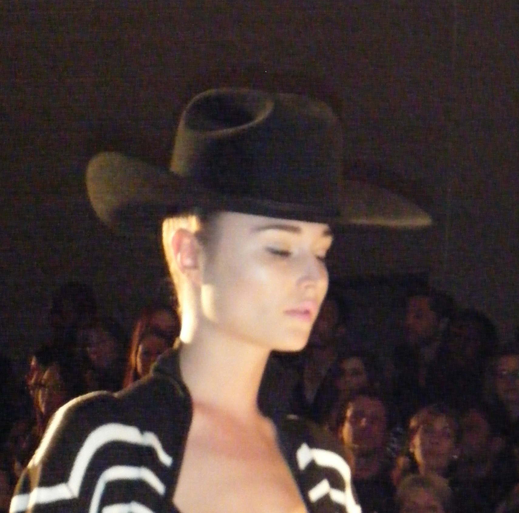 First look with cowboy hat.