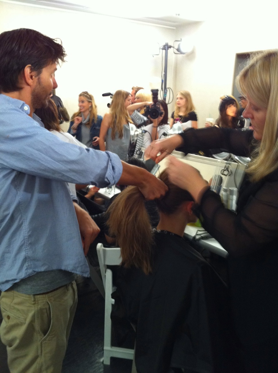 Lead stylist Guido at work