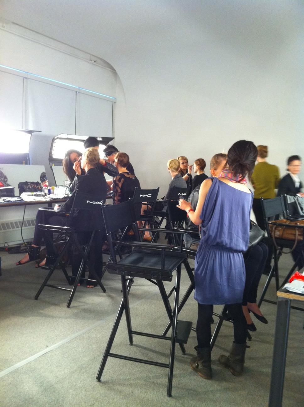 The M.A.C makeup area
