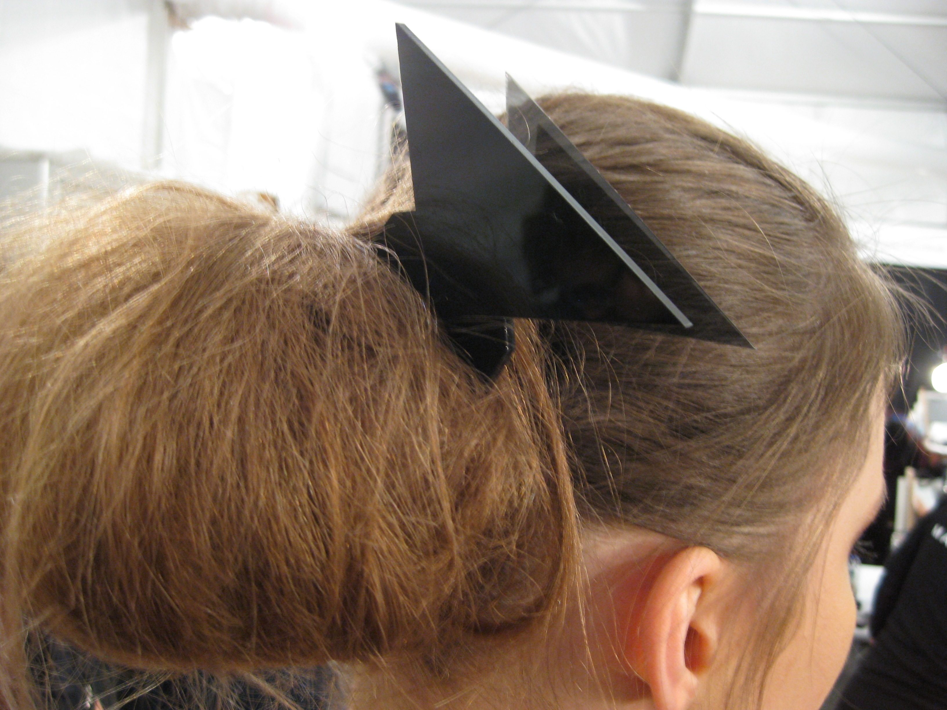 The finishing touch: a modern hair accessory by Cynthia Rowley