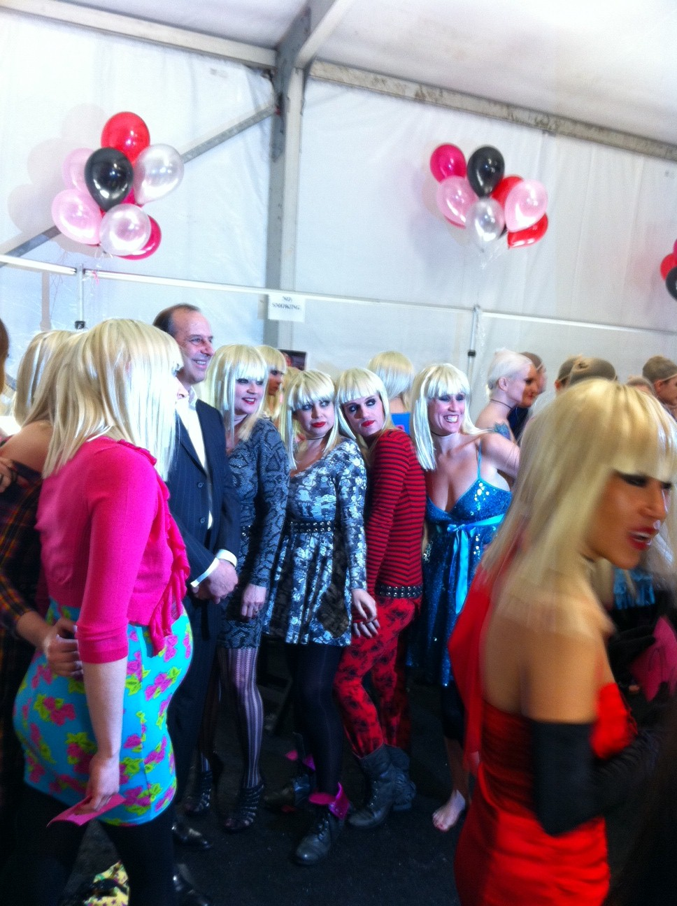 Lots of Betseys backstage
