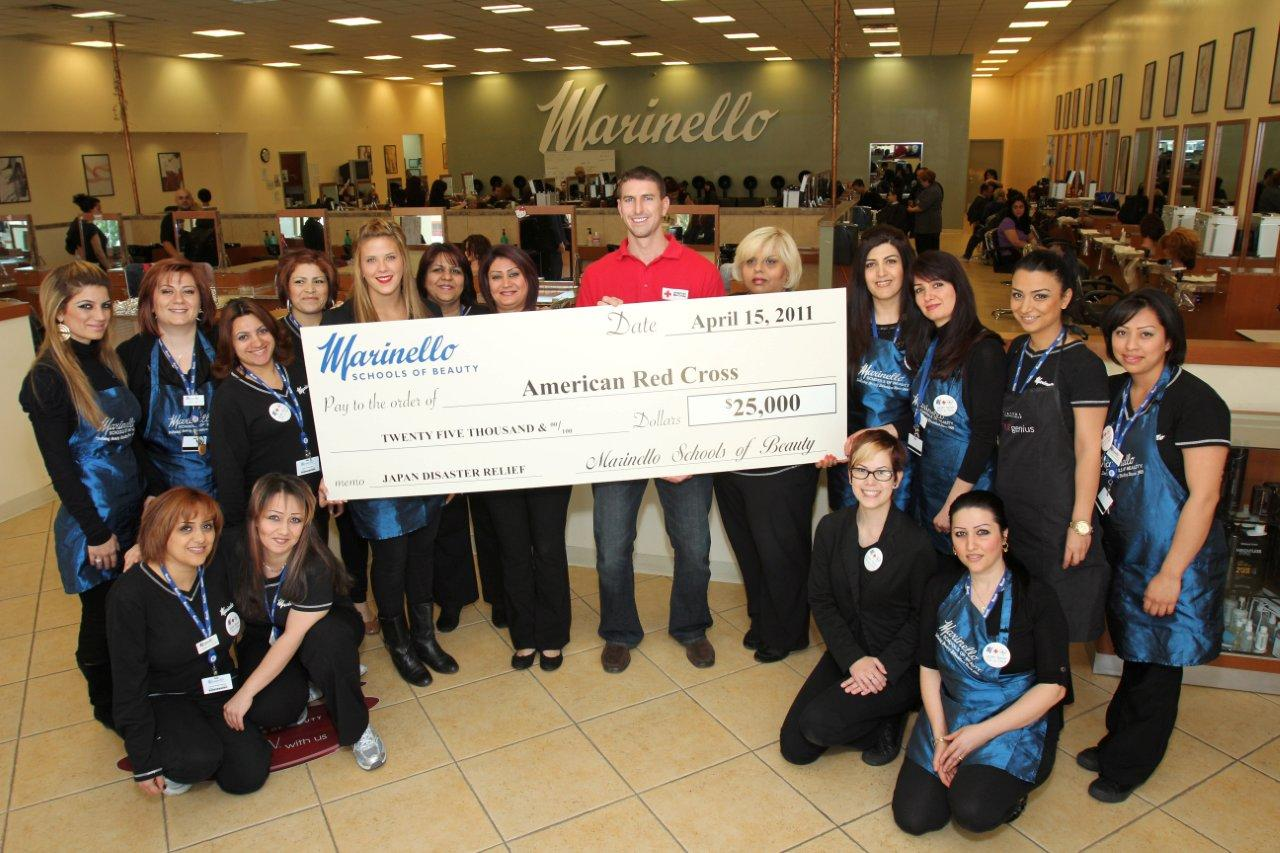 Marinello Schools of Beauty Donates $25,000 to the American Red ...