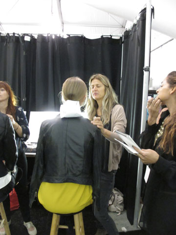 Lead makeup artist for M.A.C Diane Kendal backstage
