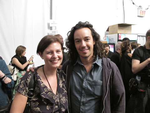 American Salon's Lotus Abrams with Orlando Pita, lead hairstylist for Moroccanoil