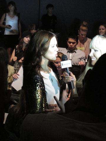 Mandy Moore at Carolina Herrera