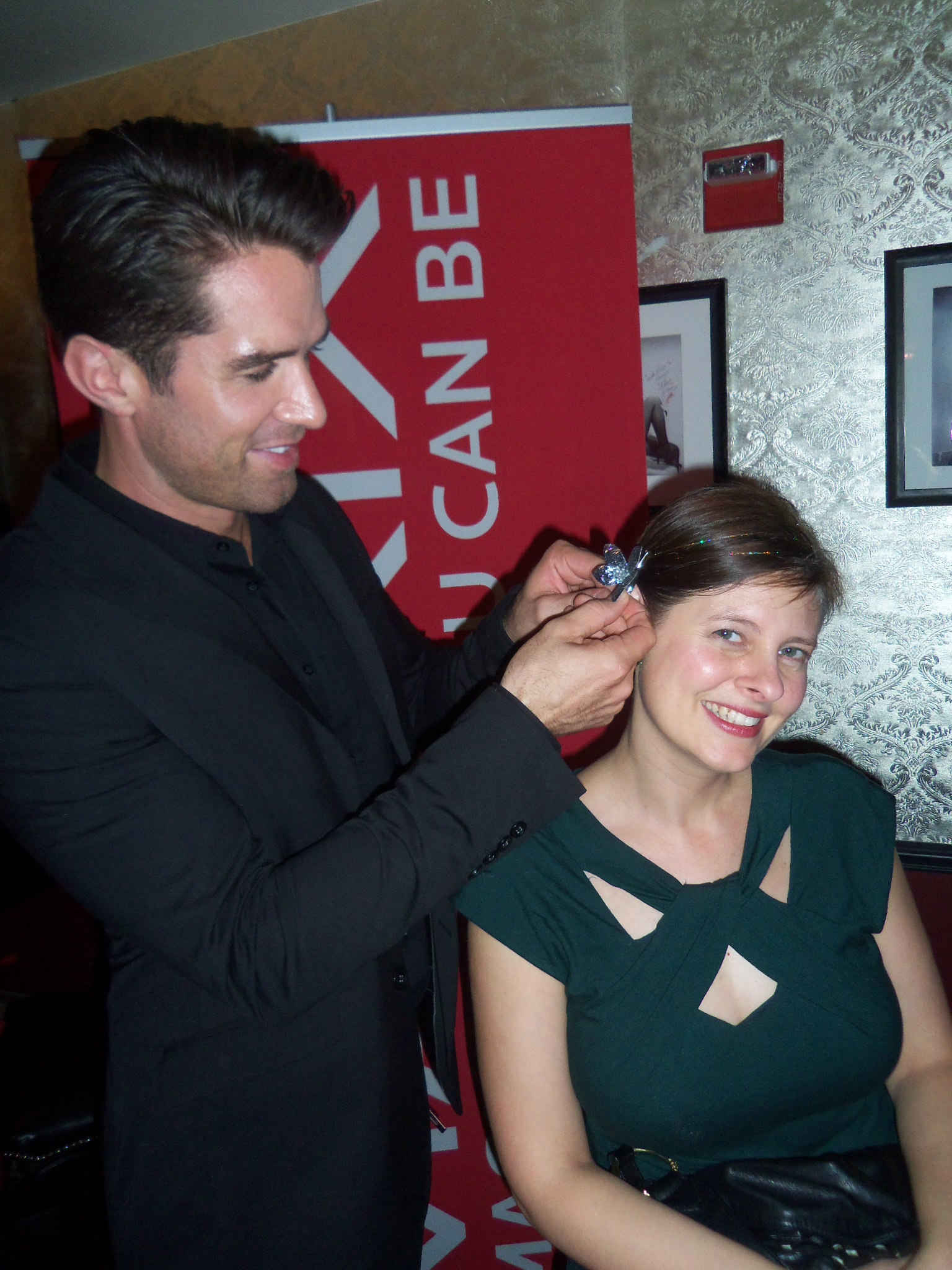Matrix Artistic Director Ammon Carver gave me a glam look for the evening.