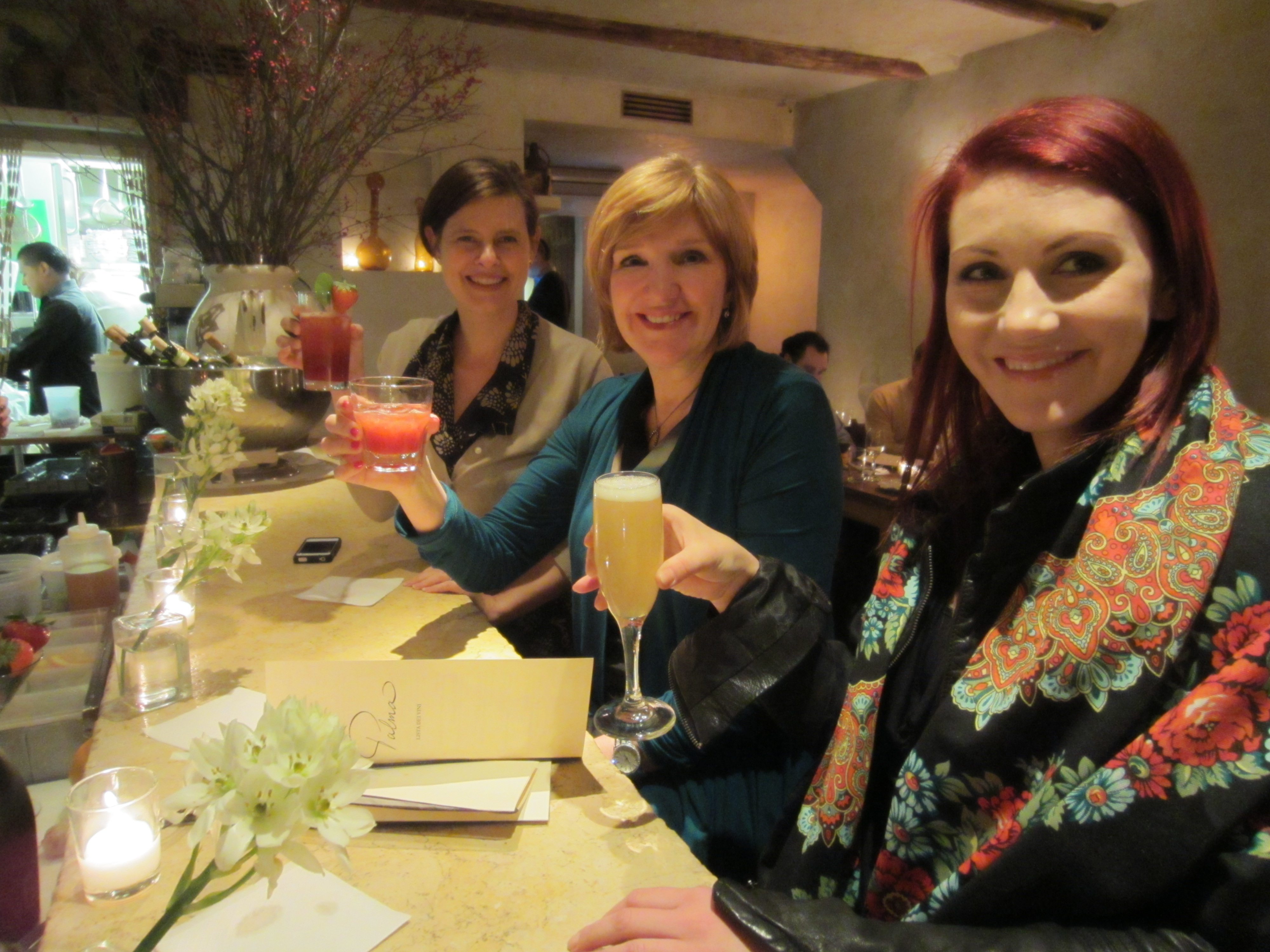 American Salon's Lotus Abrams and Jamie Corkran and contest-winner Liubov Rachmanina
