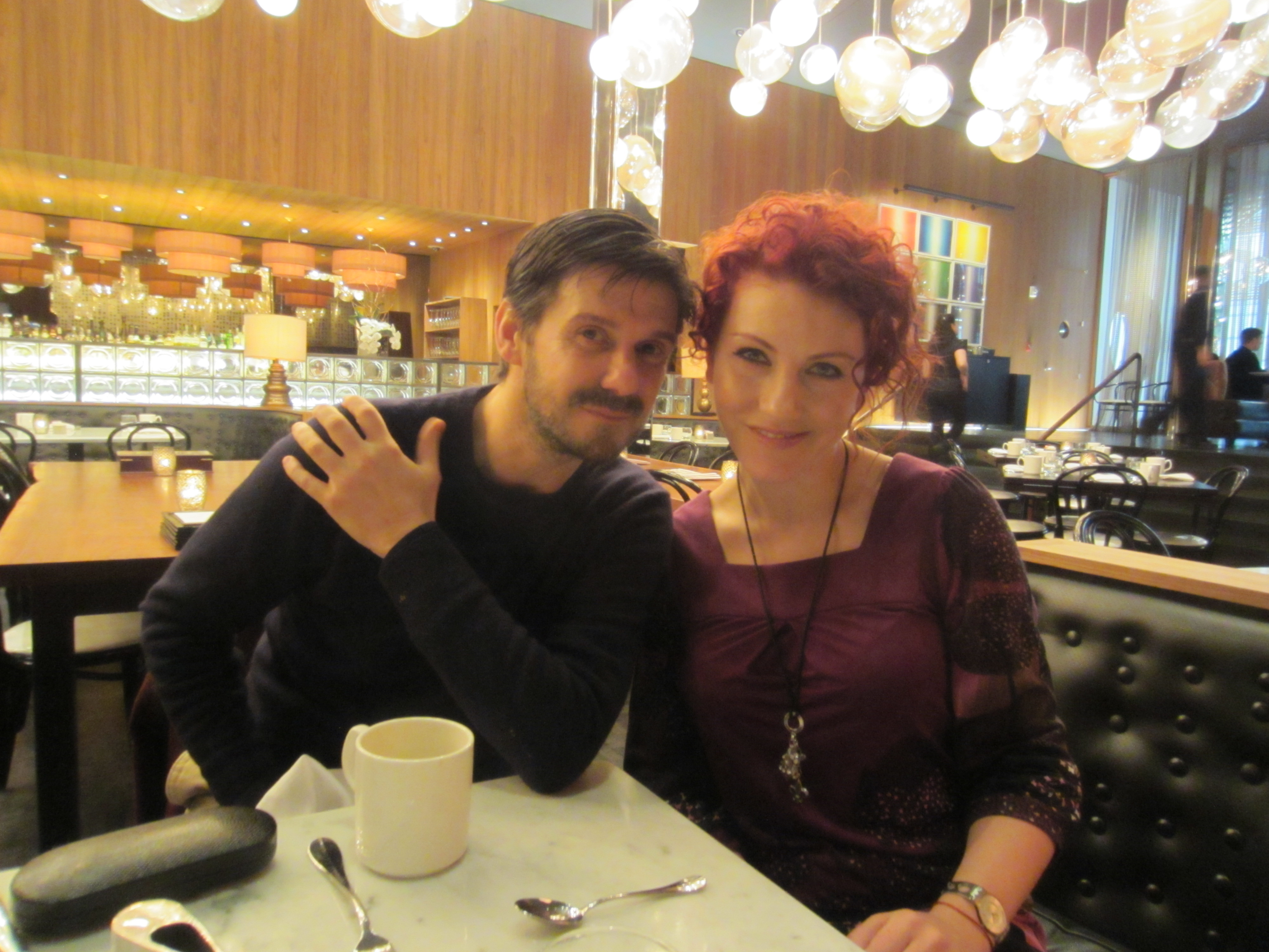 Breakfast at the Dream Downtown hotel with Redken Creative Consultant Guido