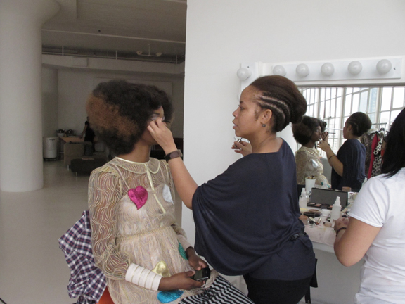 Makeup artist Aeriel Payne