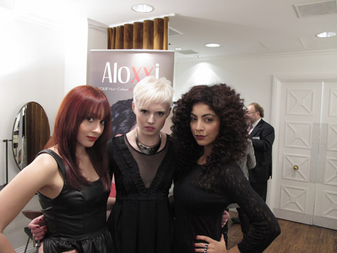 Models showcasing Aloxxi color