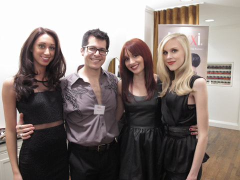 Aloxxi's Marco Pelusi with the models