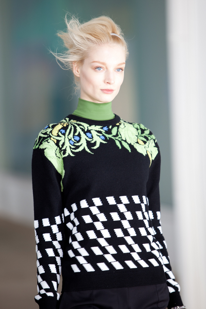 The finshed look takes the Preen runway