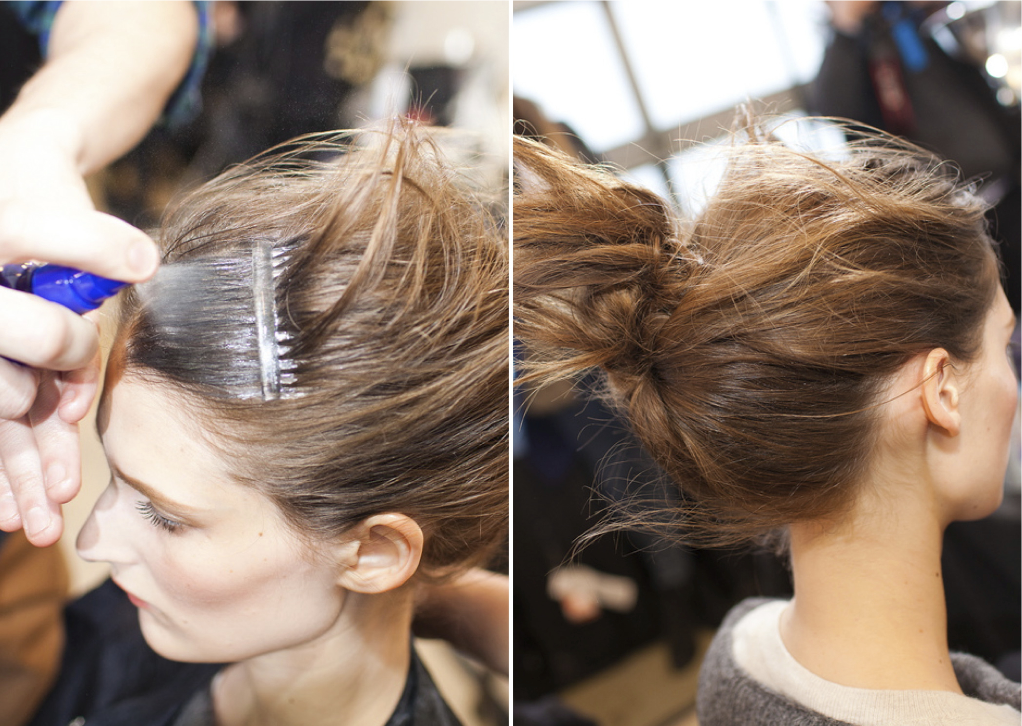 Air Control Hair Spray sets the comb marks and windblown style