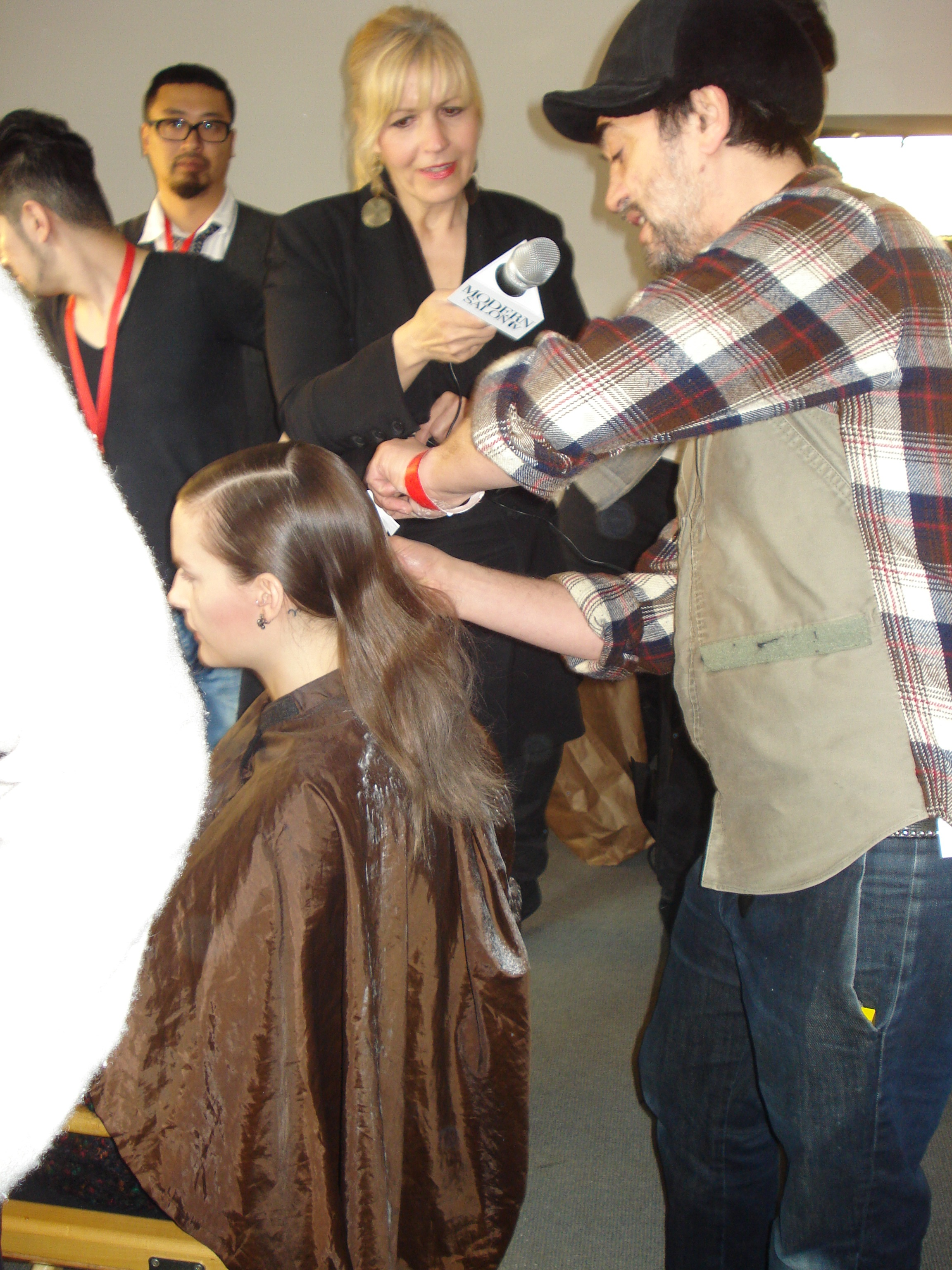 Eugene Souleiman for Wella Professionals backstage at Peter Som