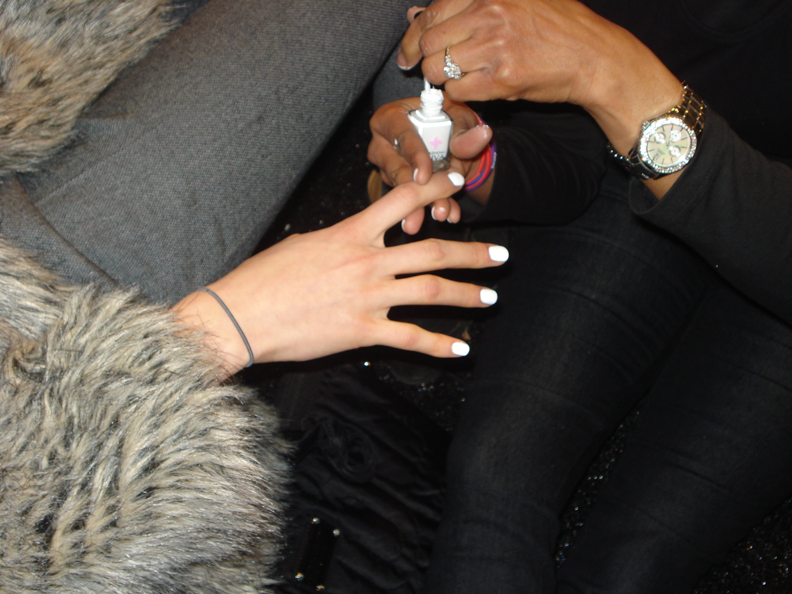 Opaque white nails designed exclusively for Tibi by Dashing Diva