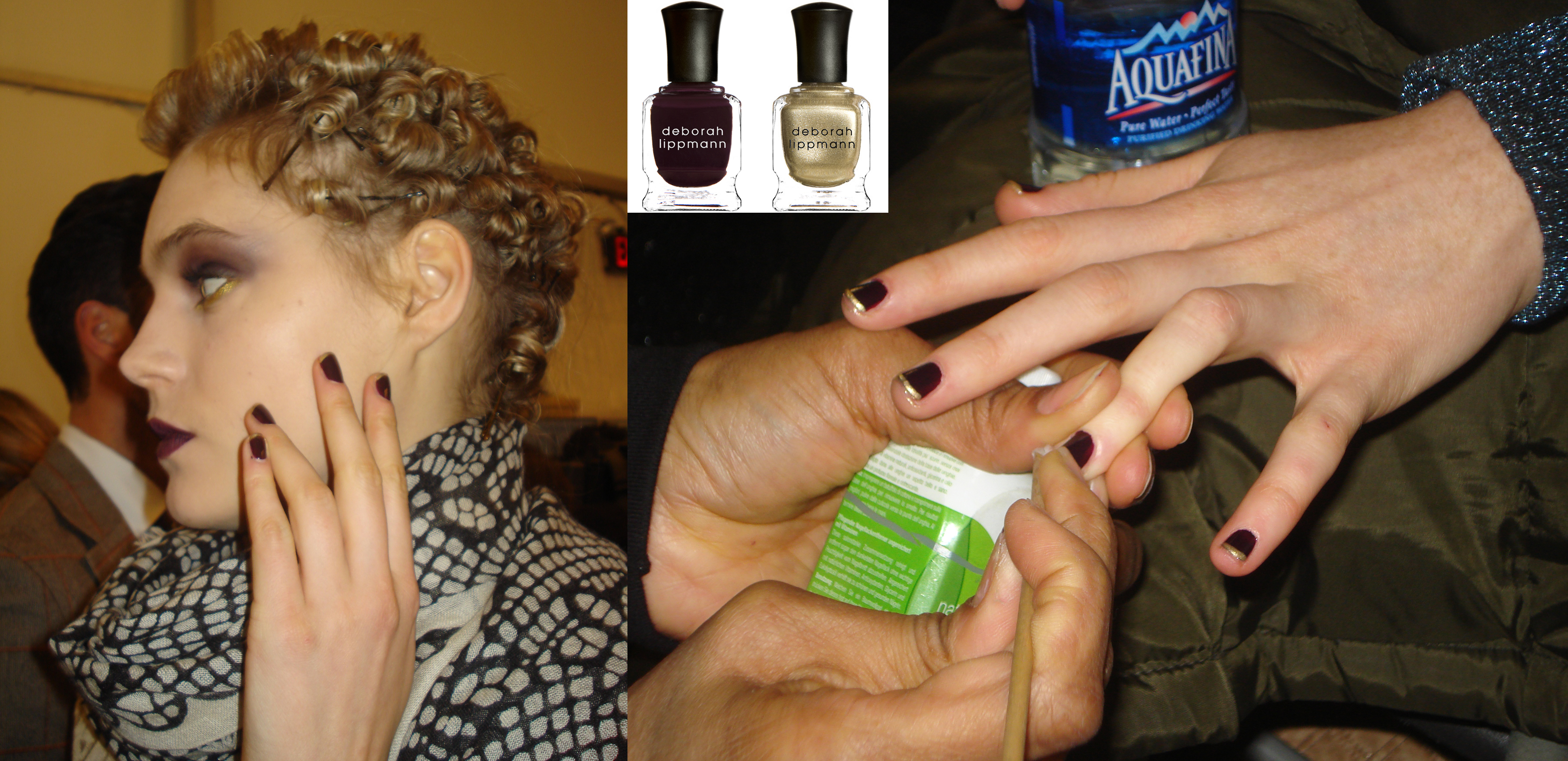 Updated French manicure by Deborah Lippmann