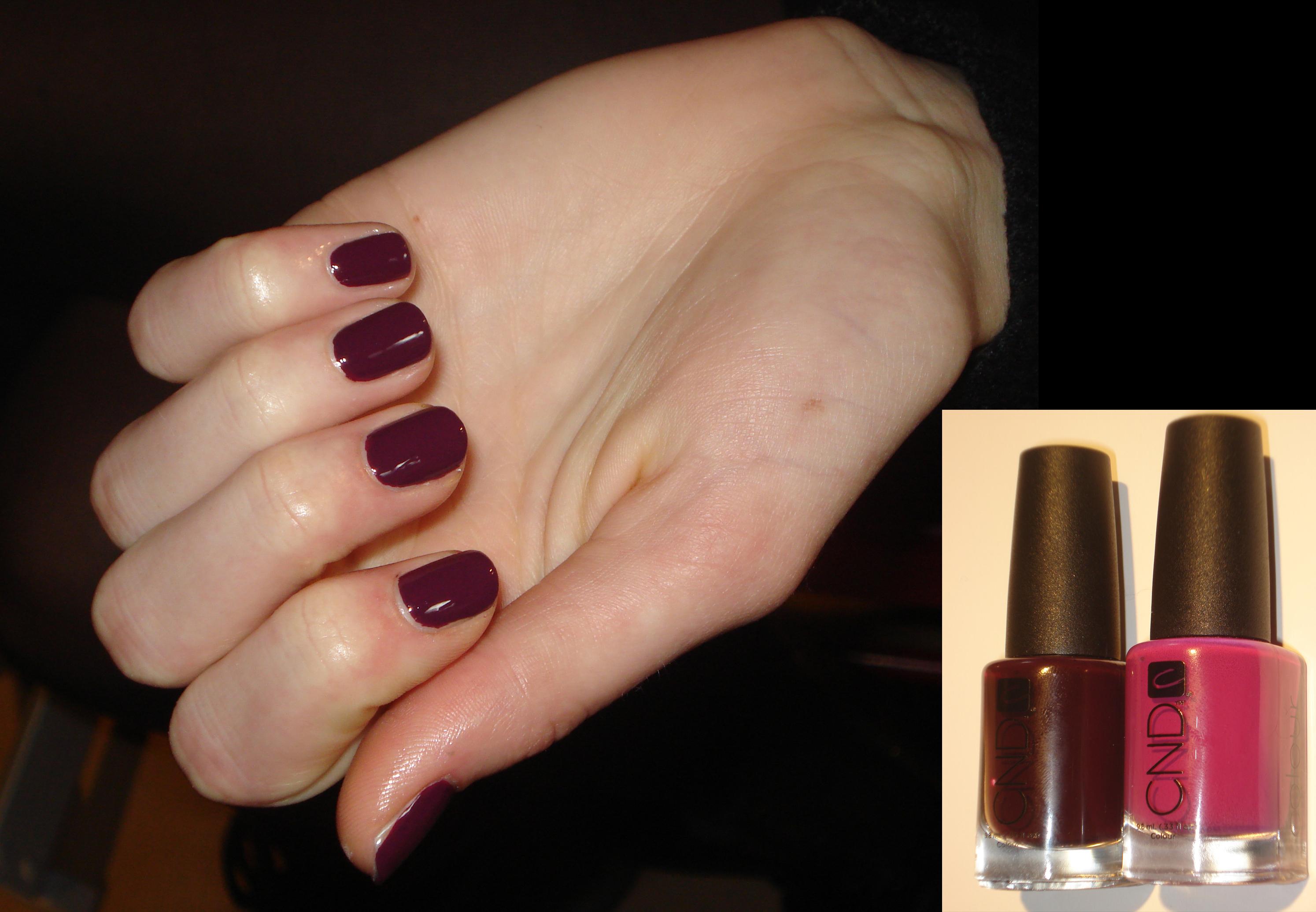 CND custom plum polish