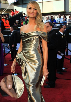 Stacy Keibler in Marchesa