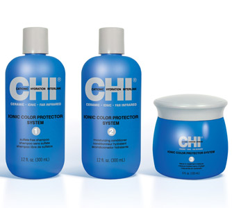 Featuring the Colorfinity complex that seals the cuticle to lock in color and shield hair from environmental stressors, this three-step system offers triple-protection from seasonal damage. The range includes a sulfate-free shampoo, featuring hydrolyzed silk for gentle cleansing; a moisturizing conditioner, featuring citric acid, olive oil, and lavender and peppermint extracts for color protection and fortification; and a leave-in treatment masque that acts as a weightless sunscreen, shielding color from fading and enhancing shine.