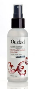 The newest addition to Ouidad's Climate Control product line, this non-greasy spray is formulated with extended release anti-frizz technology and humidity resistant actives. Ingredients such as olive, avocado and grape oils coat the hair, helping to repel frizz and tame hard to control flyaways