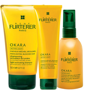 Providing maximum nourishment to color-treated hair, the new Okara Active Light product range helps reconstruct damage from within, using soybean-derived okara extract. The range—including a shampoo, conditioner and leave-in fluid—also contains vitamin E for UV shielding and acacia honey extracts to fight color fading caused by sun exposure and remove leftover residue from highlighting and bleaching treatments.