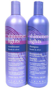 Ideal for counteracting the negative effects the sun and chlorine can have on both natural and color-treated hair, the Shimmer Lights Blonde & Silver Formulas (for light blonde and gray hair) and the Shimmer Lights Brunette & Red Formulas (for strawberry blonde to light-brown hair) are each designed to prevent color fadage, enhance radiance and reduce residue.