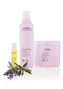 Aveda's Stress-Fix line includes a body lotion, soaking salts and a concentrate, designed to relieve pressure for clients as well as for the Earth. The eco-certified line is made from at least 95 percent natural origins and 95 percent certified organic plant materials, and 10 percent of the total ingredients are also certified organic. The products were also manufactured in an eco-certified facility. The new body care line is infused with an aroma clinically proven to relieve stress.