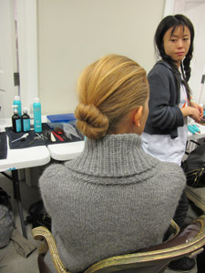 Before the models were made over by McNaughton, she advised them to use Moroccanoil Repair Shampoo and Conditioner as well as Moroccanoil's Intense Hydrating Mask the night before to ensure the hair was already smooth and flawless.