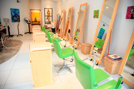 Naked Hair Salon and More located in, Delray Beach Florida, is now one of the top five eco-chic salons in the world after they landed themselves a spot on the finalist's list of Davines' Premier Eco-Salon contest.
