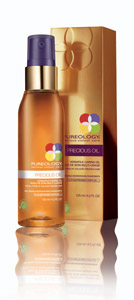 This 100 percent oil is the beauty industry's first Green Seal certified product, which means it is 100 percent biodegradable, silicone- and paraben-free, and minimally impacts the environment. Precious Oil renews each strand of the hair fiber for all types of color-treated hair and is versatile in its use. Overall it is designed to restore softness, elasticity, shine and moisture. It consists of a blend of sunflower seed, coconut, olive and jojoba oils. Available for purchase in May 2012.