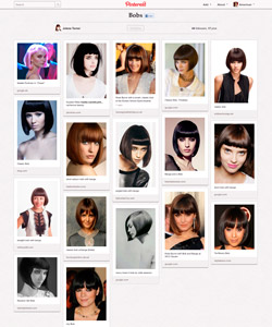 In the days before my appointment, I made a Pinterest board of my coveted bob. I love them all! Someday I will rock the full pink bob, ala Natalie Portman as Alice in the movie Closer...someday.