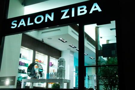 The outside of Salon Ziba in Manhattan on W. 57th Street.